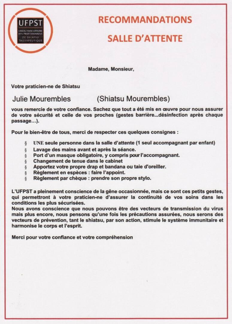 Recommandation de sécurité UFPST